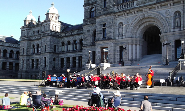 Band in front of Legislative Building